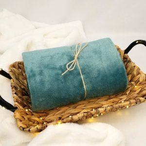 Couverture bébé – bleu celadon
